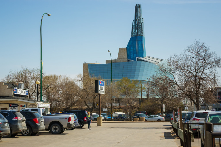 Canadian Museum for Human Rights (as seen from St. Mary)