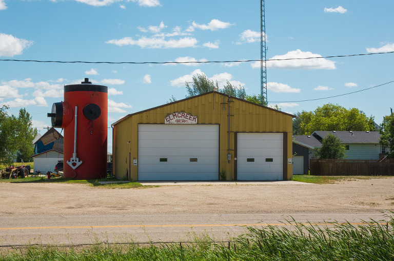 Elm Creek Fire Department, which may or may not include the world's largest fire hydrant, depending on who you talk to (Elm Creek, Manitoba)