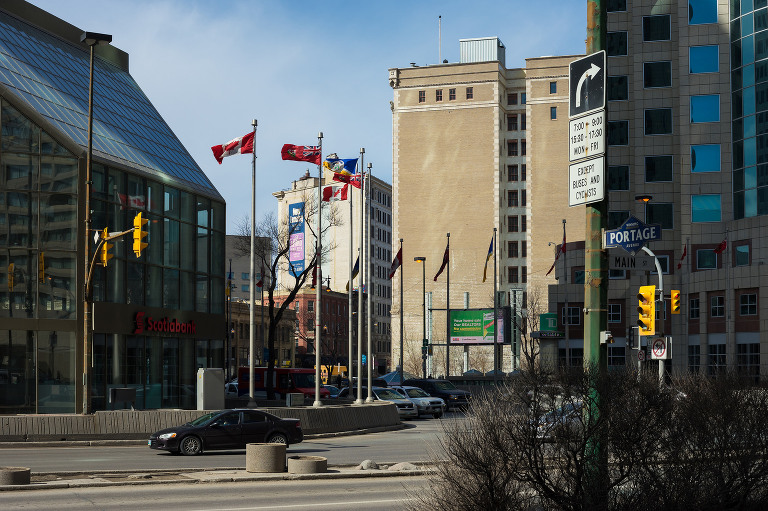 Portage and Main (southeast corner).