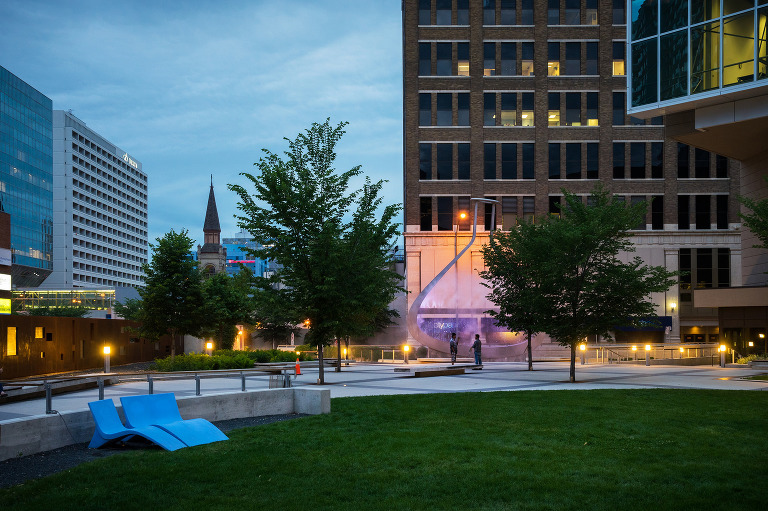 Millennium Library Park (Smith and St. Mary).