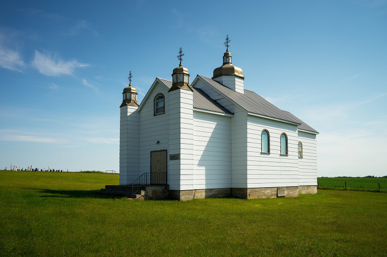 A small church in the community of Drifting River, Manitoba.