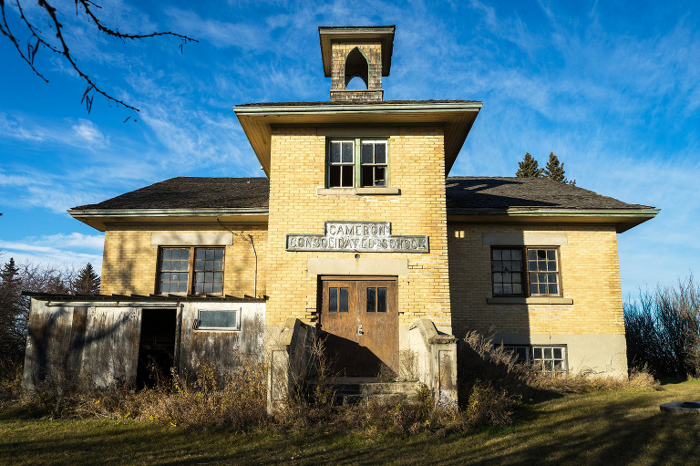Cameron Consolidated School (RM of Minto-Odanah, northwest of Minnedosa).