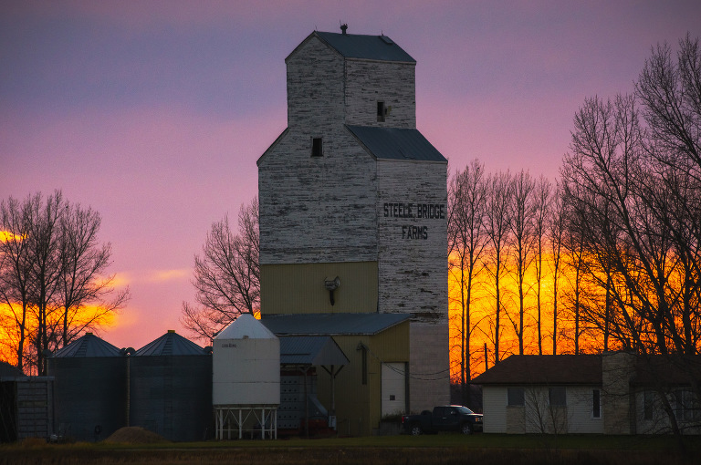 Steel Bridge Farms Grain Elevator (Near Gladstone, Manitoba).